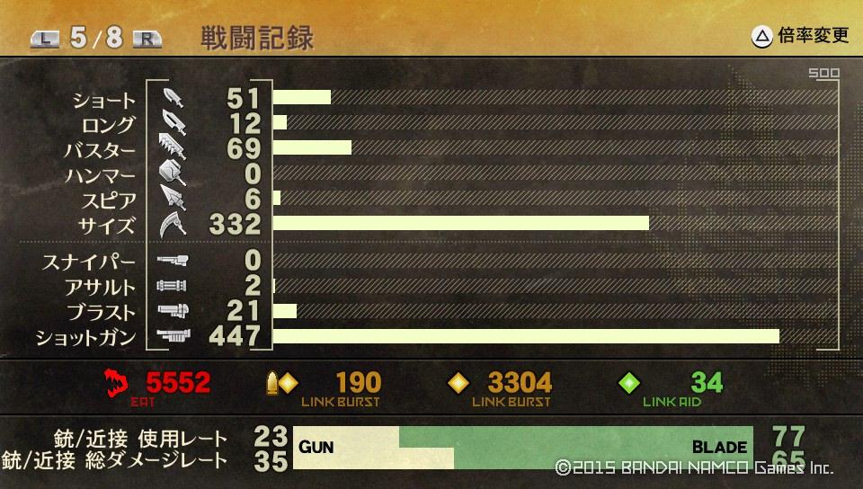 GE2RB戦闘記録